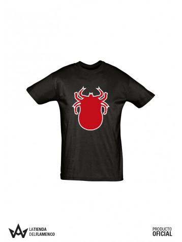 Camiseta Chico Garrapata Roja (Los Delinqüentes) Producto Oficial