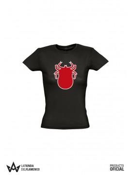 Camiseta Chica Garrapata Roja (Los Delinqüentes) Producto Oficial