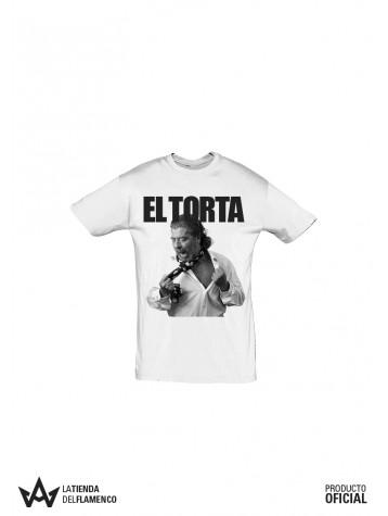 Camiseta Hombre Blanca Juan Moneo EL TORTA Imagen