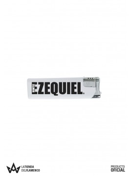 Encendedor Blanco Logo de Ezequiel Benitez