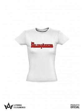 Camiseta Chica Letras (Los Delinqüentes) Producto Oficial