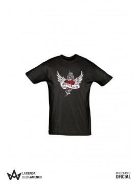 Camiseta Hombre Negra Las Gipsy Rock Corazon