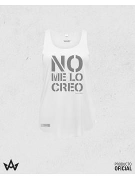 Camiseta Mujer Blanca NO ME LO CREO - Juan Peña