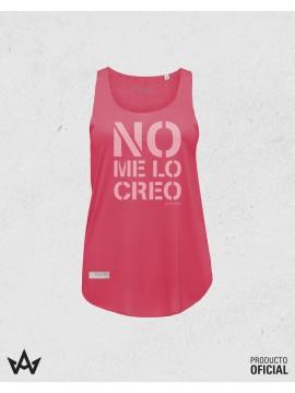 Camiseta Mujer Tirantas Color NO ME LO CREO - Juan Peña