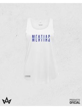 Camiseta Mujer Tirantas Blanca MENTIAS - Juan Peña