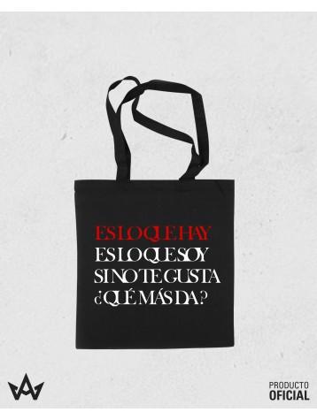 Tote-Bag Negra ES LO QUE HAY - Ricky Merino